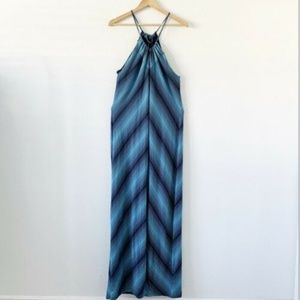 Calvin Klein Blue V-Neck Knee Length Sundress 2